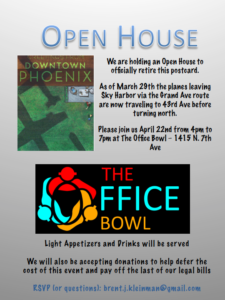 New Flight Path Open House @ The Office Bowl