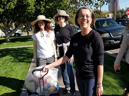 Wonderful women of Willo (WOWs) cleaning up the streets